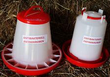 SET 3 Ltr Stülptränke und 3 kg Futterautomat Futter Tränke Geflügel Hühner Küken