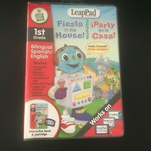 LeapPad 1st Grade Bilingual English Spanish Fiesta in the House NEW Leap Pad