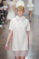 SIMONE ROCHA Ivory Wool Sheer Overlay Dress 6