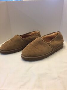 suede shearling lined slipper,MENS size 9.5