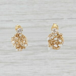 Diamond Stud Earrings Pearl Nest Enhancer Charms 10k 18k Yellow Gold Nordstrom