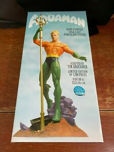 DC Direct ( 2002 ) Classic Aquaman Statue Limited Edition 1011/1200  ------ NEW