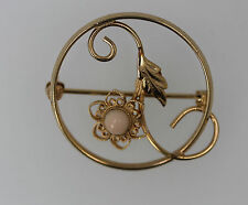 Lovely Vintage DIXELLE 12K Yellow Gold Filled Circular Flower Pin 3.7g