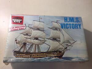 VINTAGE LIFE LIKE HOBBY KIT #09369, H.M.S. VICTORY SHIP MODEL, SEALED NIB