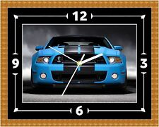 Ford Mustang Wall Clock Gift Present Christmas Birthday (Can Be Personalised)