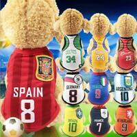Dog Cat Shirt Tank Vest Clothes Apparel SPORT Football Soccer SMALL & LARGE Pet