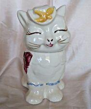 """Vintage Shawnee Cat Cookie Jar Puss N Boots Cookie Jar USA 10 1/4"""" 1940s"""
