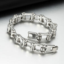 Punk Stainless Steel Bracelet Men Biker Bicycle Motorcycle Chain Bracelets GS