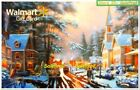 WALMART USA A WINTER DAY IN PARIS PAINTING #SC87 LUSTER COLLECTIBLE GIFT CARD For Sale
