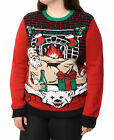 Ugly Christmas Sweater Plus Size Women's One Night Only Light Up Sweatshirt