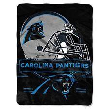 Nfl Licensed Carolina Panthers Football Royal Plush Twin Size Throw Blanket
