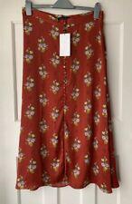 Zara A/w '18 Floral Print Midi Skirt With Slit Button Detail Ref 4043/245 L
