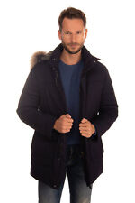 RRP€1585 CANALI Down Jacket Size 52 / XL Water Repellent Raccoon Fur Trim Hooded