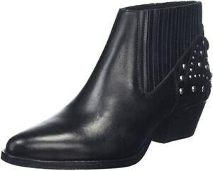SALE!! Hudson Ladies Black Leather Ankle Boots, Size 3 UK/36 EU, Clarks, ASOS