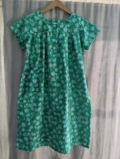 Vintage 60's House Dress Tent Dress Size L/Xl Jade Green Floral