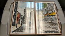 Set of Two Claude A. Simard Paintings French Canadiant Artist