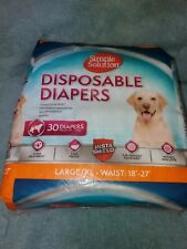 Simple Solution Disposable Dog Diapers for Female Dogs 30 Count L/xl