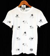 PUG PATTERN T-SHIRT - TEE - SWAG - PEAK CLOTHING - DISTRESSED VINTAGE - UNISEX