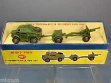 DINKY TOY'S MODEL  No.697 25-POUNDER FIELD GUN SET      VN MIB