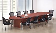 New Amber 16' Racetrack Conference/Boardroom/Meeting Room Office Table