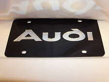 Audi  License Plate Colors - Black/Silver NEW!!