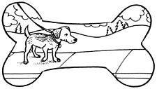 Unmounted Rubber Stamps, Dog Stamps, Canine, Dogs, Scenic Dog Bone & Dog Paw Set
