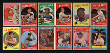 1959 TOPPS ~ 12 WELL-CENTERED STARS, ROOKIES & HALL OF FAME MEMBERS
