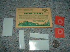 Champ decals HO  road names HN-87 Seaboard SAL  white letters  E72