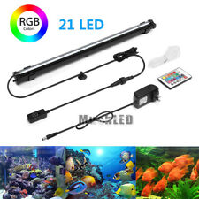 RGB Remote Control 21LED Aquarium Fish Tank Air Bubble Light Changing Color IP68