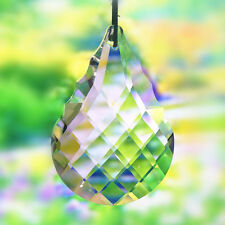 Glass Chandelier Crystal Faceted Twill Lamp Prism Hanging Drop Pendant 50mm