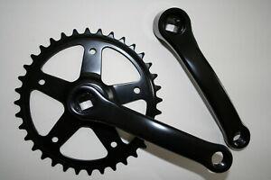 Kettenradgarnitur Kurbel 1-fach 36 Zähne für 16 – 20 Zoll Fahrrad Neu