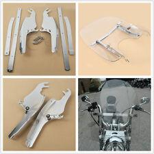 Windscreen Windshield Mounting Bracket Kit For Harley Davidson FL Softail Models