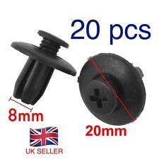 20 X puerta de automóvil recortar Fender 8mm agujero plástico a presión en Remaches Sujetadores. vendedor del Reino Unido.