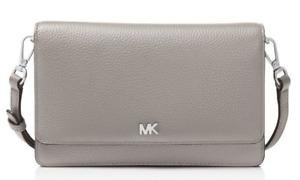 Michael Michael Kors Gray Leather Smartphone Crossbody Wallet B3930