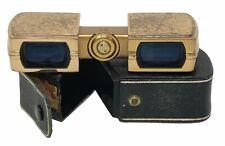 Gold Sliding Opera Glasses by Dr. Hans Hensoldt (HH) Wetzlar German Made 1930s