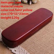 free ship single pen packing box maple wood pen case pen display case