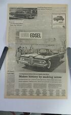 1959 Edsel newspaper ad