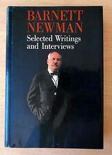 Barnett Newman: Selected Writings and Interviews 1990 HC DJ First Edition