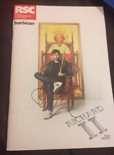 DAVID TENNANT SIGNED RICHARD II THEATRE PROGRAMME DOCTOR WHO & BROADCHURCH