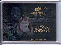 Magic Johnson 2013-14 UD Black Original Autograph Lakers Michigan #S-MJ 61/75