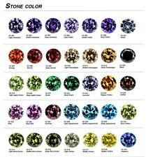 Cubic Zirconia Round Brilliant Cut Loose Stones Various Colours & Sizes