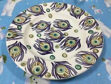 "Emma Bridgewater Liberty Purple Peacock  8.5"" Plate NEW"