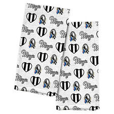 Collingwood Magpies AFL Tea Towel Set of 2 hand Towels Kitchen Bath Mothers Gift