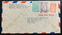 1960s Abqaiq Saudi Arabia American Oil Co Airmail Cover to New York USA