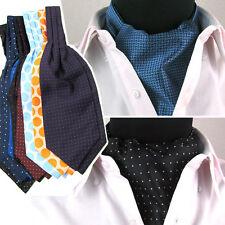 Men Fashion Stripe Polka Dots Checks Wedding Party Scarves Cravat Ties Ascot