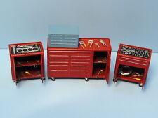 1/76 scale OO gauge tool carts for model train layout maintenance repair shop