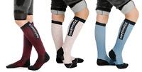 Horseware Adults Long Technical Riding Knee Socks Pink/Berry/Blue Heaven 36 - 41