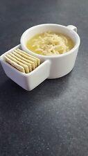White 12 oz Soup Mug with Cracker Slot