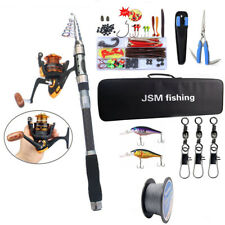 Fishing Rod and Reel Combo Telescope Rod Saltwater Fishing Lure Line Swivel Kit