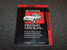 1998 Toyota 4Runner Shop Service Repair Manual Vol1 SR5 Limited 2.7L 3.4L V6